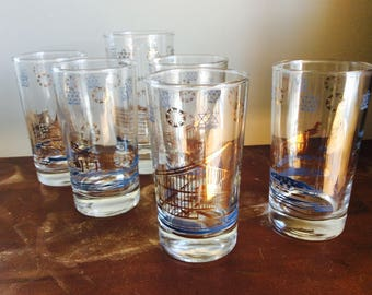 Set of 6 glasses Expo 67 Montreal