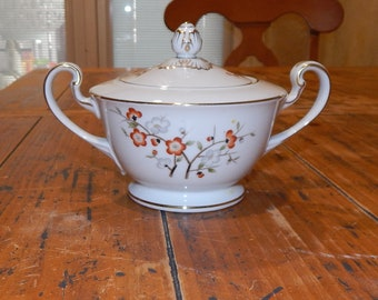 Vintage 1940s Noritake China Sugar Bowl with Lid -Brenda 3064 Japan Porcelain