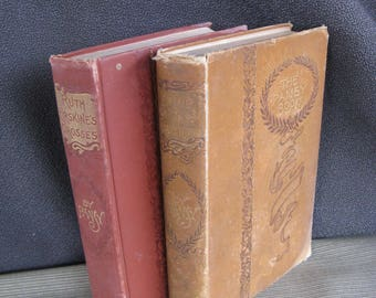"""two old books by Pansy, """"Ruth Erskine's Crosses"""" and """"Four Girls of Chautauqua"""""""