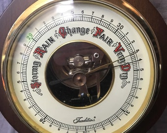 Vintage Sears and Roebuck Thermometer and Barometer No. 4 6659 Made In West Germany