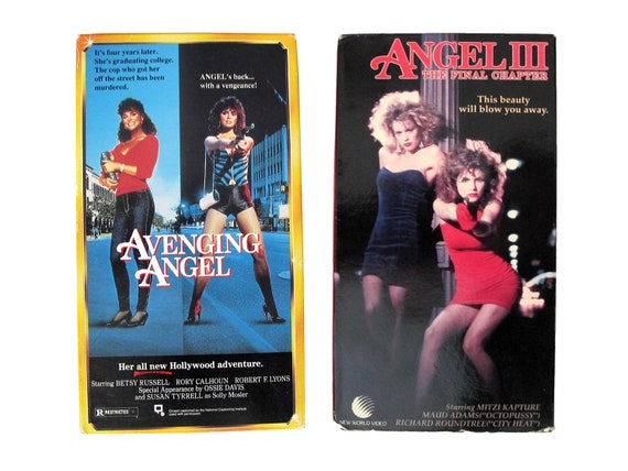 Avenging Angel & Angel III VHS Tape Movies Vengeance Exploitation Film Revenge