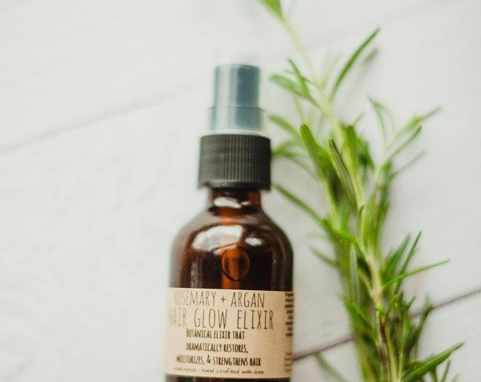 rosemary + argan HAIR GLOW ELIXIR - nourishing hair - soothing - all hair types - serum