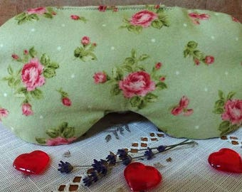 Aromatherapy Dried Lavender and Flax Seed Filled Flannel Eye Mask/Pillow