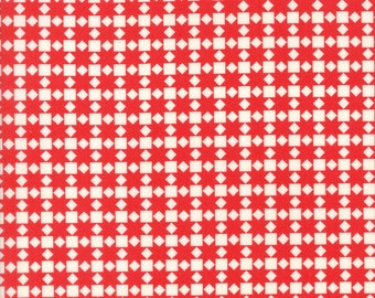Handmade Star Quilt Red by Bonnie and Camille for Moda, 1/2 yard cotton fabric