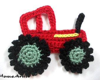 Crochet Tractor Applique