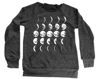 Feather Sweater  - Womens Feather Sweatshirt  - Kangaroo Pocket -  Small, Medium, Large, Extra Large