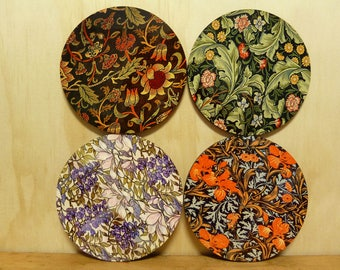 Set of 4 coasters - 95mm - Vintage Patterns