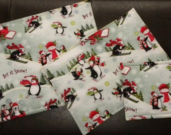 Hot Pads Set of 3; double sided, dual season/holiday, Kitchen Hot Pads/Pot Holders