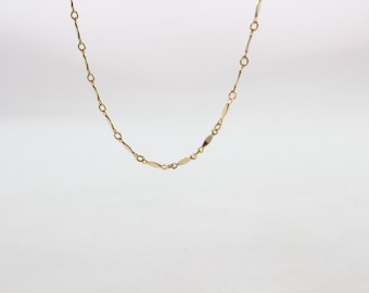 Dainty Diamond Necklace • 14k gold filled or Sterling silver Layering Necklace