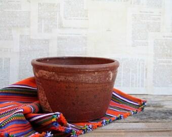 Rustic Earth Tones Pottery Serving Bowl