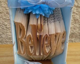 Believe book fold