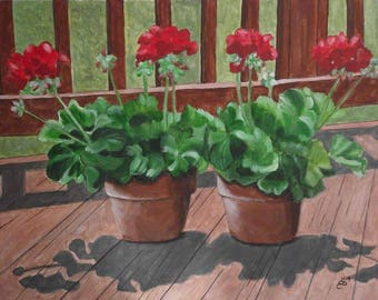 Geraniums for my Deck