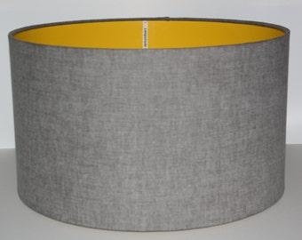 Lamp shades etsy uk grey drum lampshade modern lampshade ceiling lampshade table lamp aloadofball Gallery