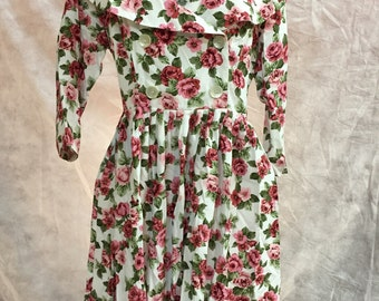 90's Floral BLOSSOM Dress by Jonathan Martin size 9/10
