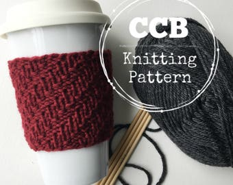 Alden Coffee Cozy / Cup Sleeve PATTERN - 2 Sizes