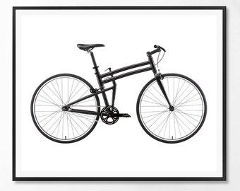 Bicycle Print, Bicycle, Bike print, Scandinavian, Modern print, Minimal, Bicycle Wall Art, Black and white, Minimalist, Scandinavian print