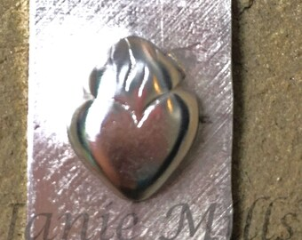 Sterling Stamping Flaming Heart