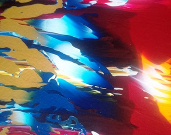 Abstract Sunset Original Painting