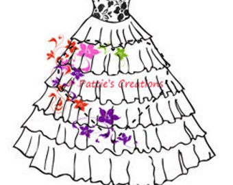 Vintage Wedding Dress Lace Top