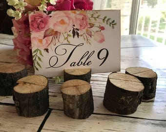 Wood Table Number Holders, Wedding Place Card Holder, Wedding Table Number Holder, Rustic Wedding, Wood Place Card Holders