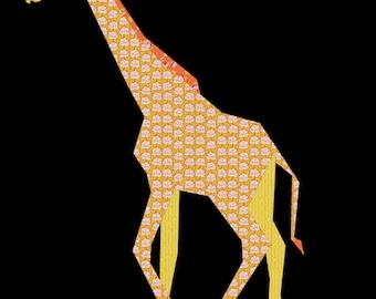 Giraffe- A Foundation Paper Pieced Safari Quilt Pattern- 24 x 30 Inch