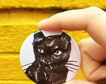 Black Cat Illustrated 58mm Big Badge