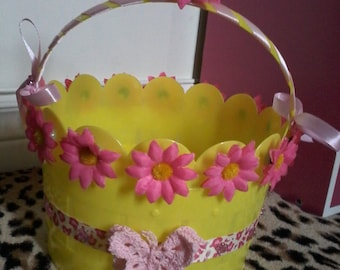Yellow and Pink Bucket