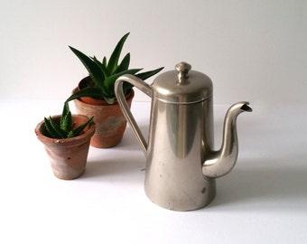 Vintage metal teapot / coffeepot