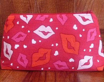 Valentine's Day Make Up Case/Zipper Pouch
