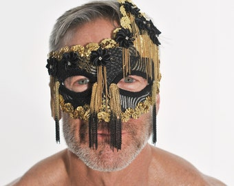 hand crafted, custom designed party mask