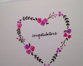 Hand Painted | Congratulations | Greeting Card
