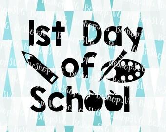 1st day of school SVG, Kindergarten SVG, 1st grade SVG, Back to school SvG, Kids Svg, Instant download, Eps - Dxf - Png - Svg