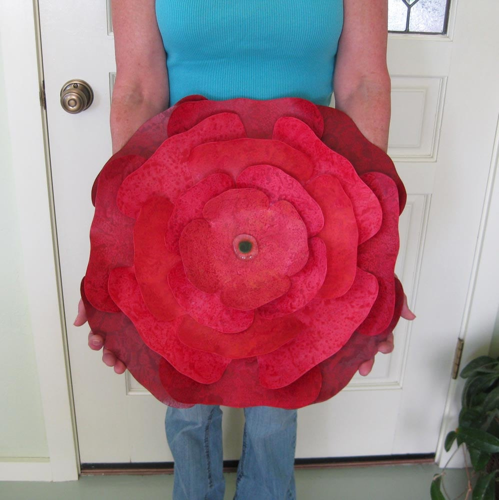 Metal Rose Wall Art Extra Large Metal Wall Sculpture Flower Art Red Hibiscus
