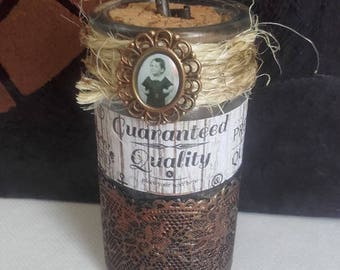 """Pretty """"Child"""" apothecary glass bottle"""