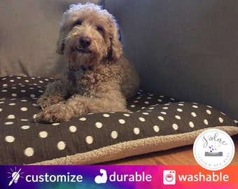 Dog Bed with Insert   Pillow Style - Small to X-Large   You Choose Fabrics