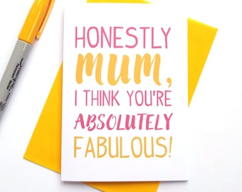 Mother's Day Card - Absolutely Fabulous Mum
