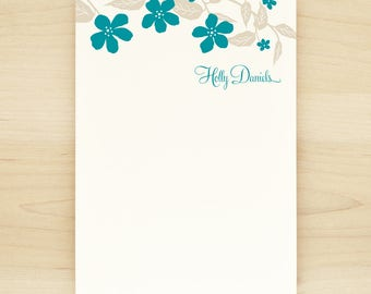 FLORA Personalized Notepad - Flower Teacher Custom Letterhead