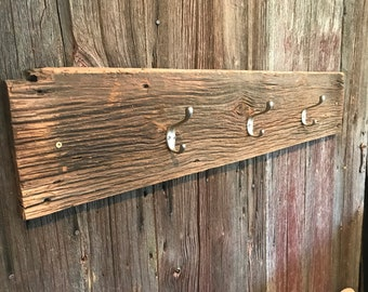 Barn wood coat hook