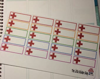 Red Cross stickers. Perfect for any planner!