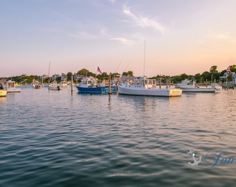 Edgartown Harbor ~ Photograph, Nautical, Beach, Martha's Vineyard, Ocean, New England, Sailboats, Coastal Decor, Artwork, Beach, Joules, Art