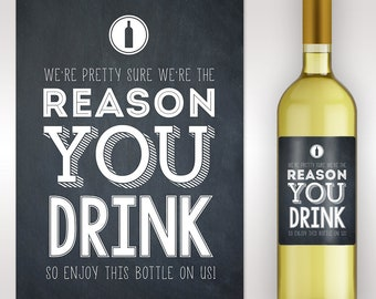 Boss Appreciation Gift - Boss Gift - Custom Wine Label - Boss Gift - Friend Gift - Funny Gift - Funny Wine Label