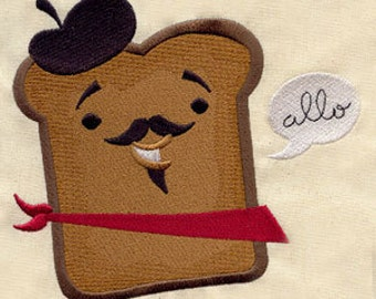 French Toast Embroidered Flour Sack Hand/Dish Towel