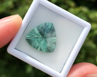Fluorite Gemstone - trillion cut