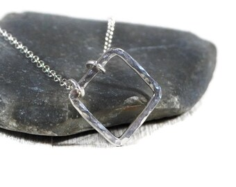 Sterling Silver Open Triangle Necklace. Geometric Necklace. Layered Necklace. Delicate Necklace. Minimalist Jewelry. Birthday Gift For Her