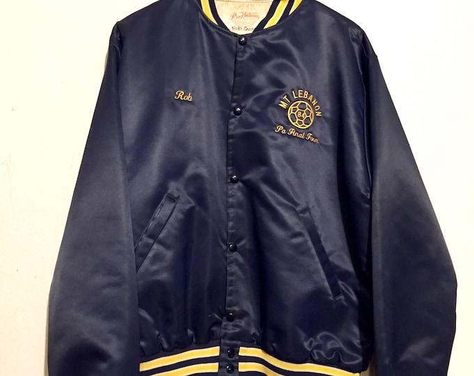 1984 Mt Lebanon Soccer Champions Satin Lined Jacket