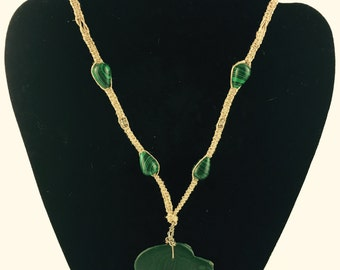 Malachite Hemp necklace