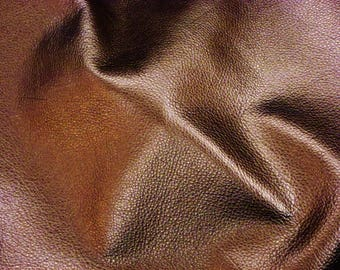 BRONZE Pebbled Metallic 3 or 4 or 5 or 6 sqft SOFT cowhide shows the grain Leather 3-3.25oz/1.2-1.3mm PeggySueAlso™ E4100-08 Full hides too