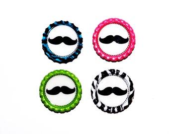 Set of 4 Moustache Magnets - Comes As Shown
