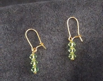 Light Green Swarovski Crystal Earrings
