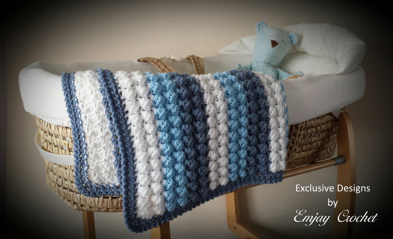 Baby crochet bobble blanket afghan pattern for pram zoom bankloansurffo Choice Image